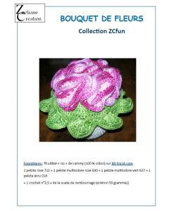 Fiche crochet bouquet de fleurs en coton