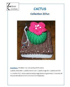Fiche crochet cactus porte épingles