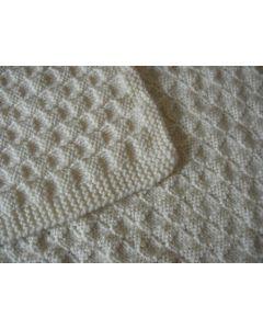 Kit tricot plaid canada en damiers 4x4