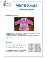Fiche tricot layette veste 0 à 36 mois