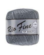 pelote 50 g coton mercerisé RIO FINE coloris 002 gris